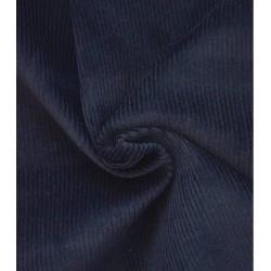 Velours côtelé bleu marine x 50cm