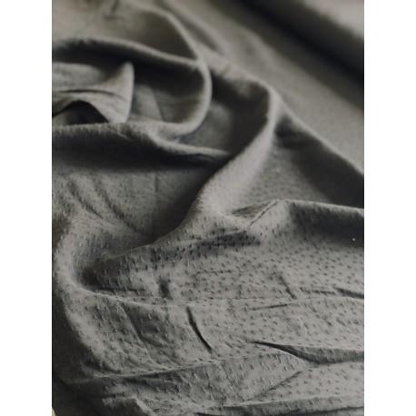 Tissu viscose dobby noir x 50cm
