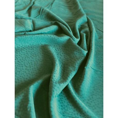 Tissu viscose dobby vert x 50cm
