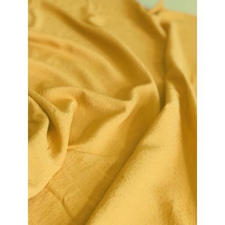 Tissu viscose dobby jaune x 50cm