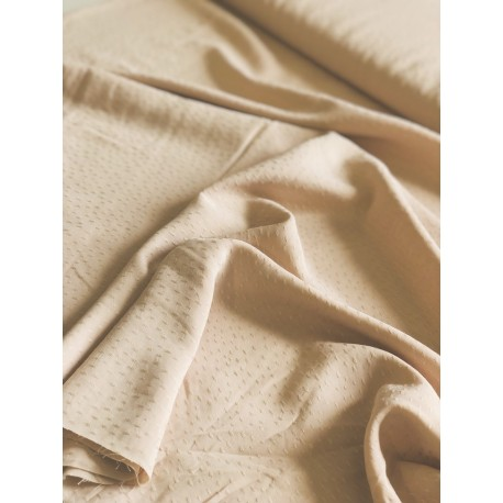 Tissu viscose dobby rose clair x 50cm