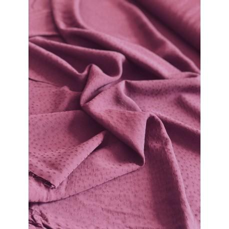 Tissu viscose dobby prune x 50cm