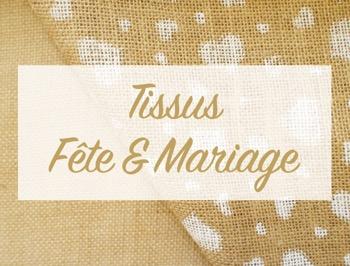 Tissus décoration mariage